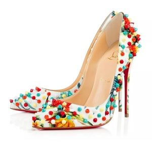 Christian Louboutin Follies Spiked Floral 120mm